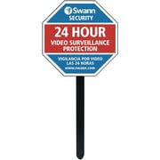 Swann Security Sign and Stickers with Yard Stake (SW276-YSS-0300)