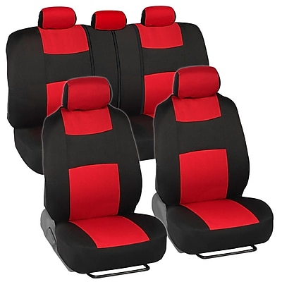 BDK OS-309-RD Rome Black/Red Seat Cover