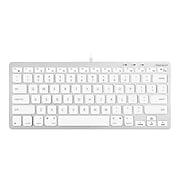 Macally Compact Keyboard, White/Silver (SLIMKEYCA)