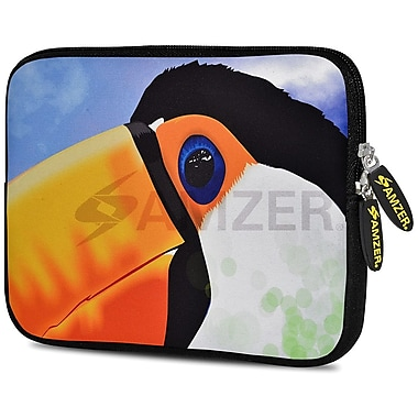 Amzer 10.5 Inch Designer Neoprene Sleeve Shock Absorbing Case Cover For Tablets, Ipad, Kindle, Toucan (AMZ5210105)