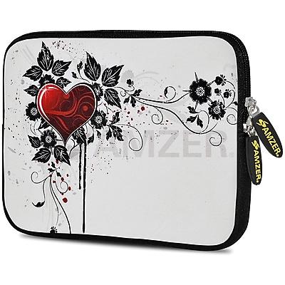 Amzer 10.5 Inch Designer Neoprene Sleeve Shock Absorbing Case Cover For Tablets, Ipad, Kindle, White Lotus (AMZ5099105)