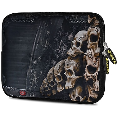 Amzer 10.5 Inch Designer Neoprene Sleeve Shock Absorbing Case Cover For Tablets, Ipad, Kindle, Skulls Stack (AMZ5236105)