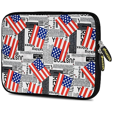 Amzer 10.5 Inch Designer Neoprene Sleeve Shock Absorbing Case Cover For Tablets, Ipad, Kindle, Usa Flags (AMZ5217105)