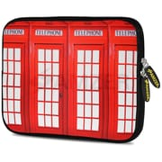 Amzer 10.5 Inch Designer Neoprene Sleeve Shock Absorbing Case Cover For Tablets, Ipad, Kindle, Red Boxes (AMZ5230105)