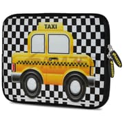 Amzer 10.5 Inch Designer Neoprene Sleeve Shock Absorbing Case Cover For Tablets, Ipad, Kindle, Yellow Taxi Checks (AMZ5275105)