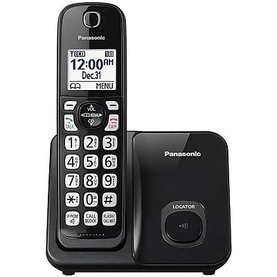 Panasonic KX-TGD510B Expandable Cordless Phone with Call Block (Single Handset)