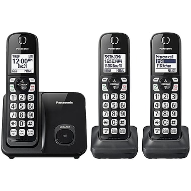Panasonic KX-TGD513B Expandable Cordless Phone with Call Block (2 Handsets)