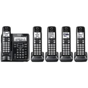 Panasonic KX-TGF545B Expandable Cordless Phone with Call Block and Answering Machine (5 Handsets)