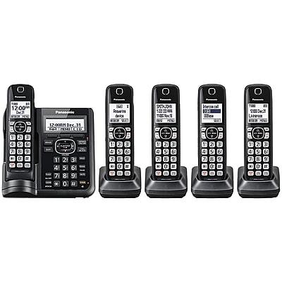 Panasonic KX-TGF545B Expandable Cordless Phone with Call Block and Answering Machine (5 Handsets)
