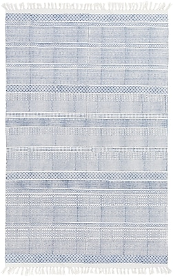 Surya Idina Cotton 4' x 6' Blue Rug (IDI8800-46)