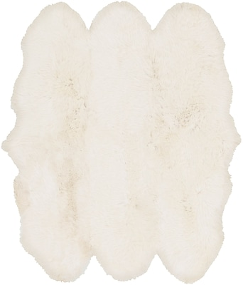 Surya Sheepskin Hair On Hide 6' Square Neutral Rug (SHS9600-6SQ)