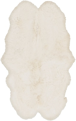 Surya Sheepskin Hair On Hide 4' x 6' Neutral Rug (SHS9600-46)