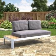 Southern Enterprises Cavalla Aluminum Outdoor Convertible Lounger & Loveseat (OD1371)
