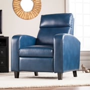 Southern Enterprises Benton Faux Leather Two-Step Recliner, Blanche Royal (UP1101)