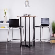 Southern Enterprises Holly & Martin Blence 2 Piece Barstool Set, Black (BC8411)