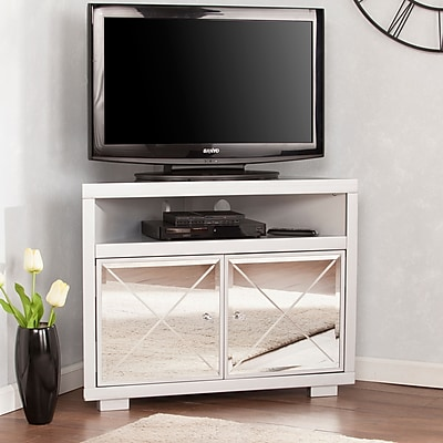 Southern Enterprises Mirage Mirrored Corner TV Stand (MS9173)