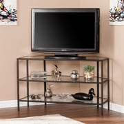 Southern Enterprises Kendrick Metal & Glass Corner-Optional TV Stand (MS2421)
