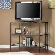 Southern Enterprises Martyn Metal & Glass Corner-Optional TV Stand, Black (MS2401)