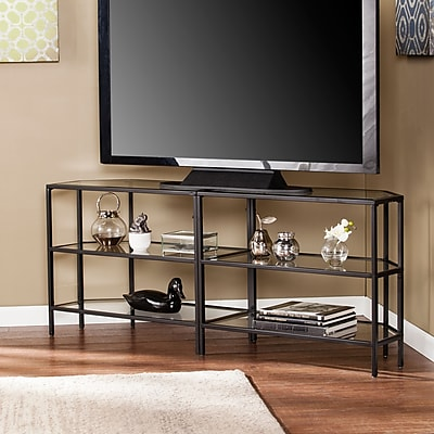 Southern Enterprises Daylen Metal & Glass Corner-Optional TV Stand (MS2441)