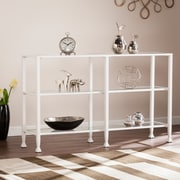 Southern Enterprises Jaymes Metal & Glass 3-Tier Console Table & Media Stand, White (CM4771)