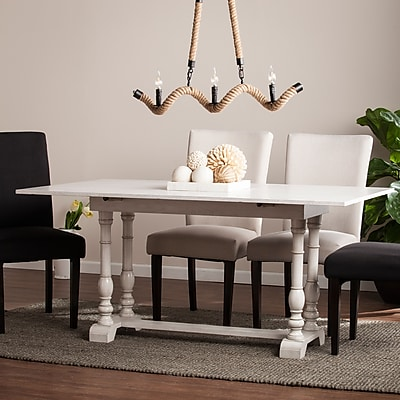 Southern Enterprises Edenderry Farmhouse Folding Trestle Console to Dining Table (DN0894)