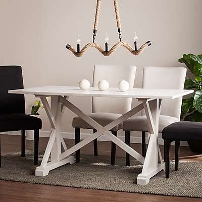 Southern Enterprises Cardwell Distressed Farmhouse Dining Table (DN0893)