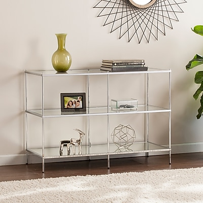 Southern Enterprises Knox Glam Mirrored Console Table, Chrome (CK5003)
