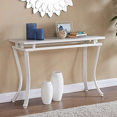 Southern Enterprises Edisto Rectangular Console Table, White (CK7423)