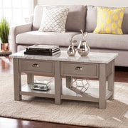 Southern Enterprises Youngston Faux Marble Rectangular Cocktail Table, Gray (CK2760)
