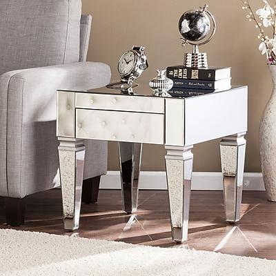 Southern Enterprises Darien Contemporary Mirrored Square End Table (CK3692)