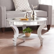 Southern Enterprises Lindsay Glam Mirrored Round Cocktail Table (CK2380)