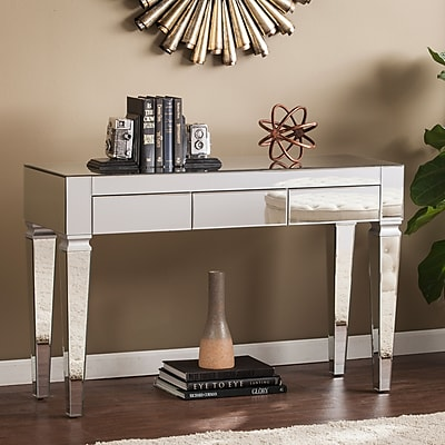 Southern Enterprises Darien Contemporary Mirrored Console Table (CK3693)