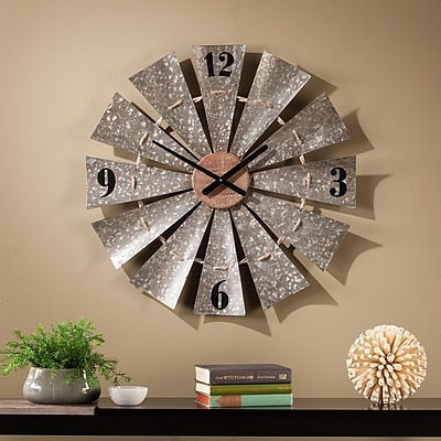 Southern Enterprises Brevan Oversized Decorative Windmill Wall Clock (WS6526)