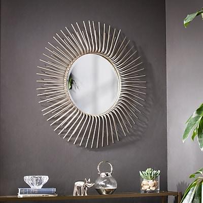 Southern Enterprises Trevella Round Oversized Sunburst Wall Mirror (WS6368)