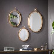 Southern Enterprises Emmalyn Decorative Mirror 3  Piece Set, Gold (WS6559)