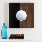 Southern Enterprises Holly & Martin Wagars Square Wall Mirror, Black &  Burnt Oak (WS4681)