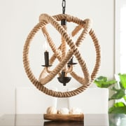 Southern Enterprises Mayberly 3-Light Rope Orb Pendant Lamp (LT1817)