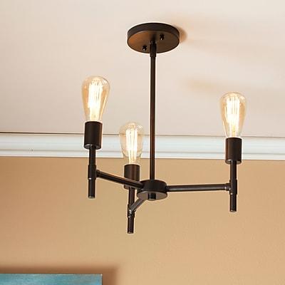 Southern Enterprises Scutari 3-Light Semi-Flush Mount Ceiling Light (LT1802)