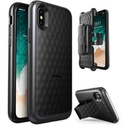 I-Blason Transformer Heavy Duty Case for Apple iPhone X, Black (IPHX-TRANSF-BK)