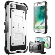 I-Blason Armorbox Heavy Duty Case for Apple iPhone 8, White (IPH8-ARMOBX-WH)