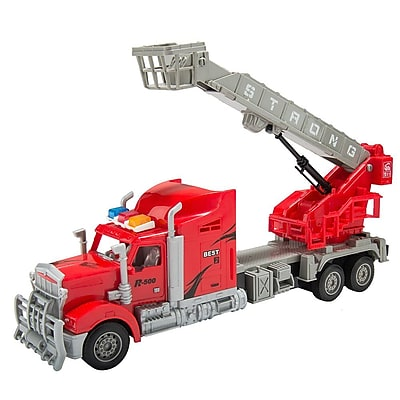 Red Remote Control Big Rig With Crane And Basket (TOYCAR135)
