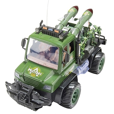 Remote Control Green Military Army Jeep With Missles And Soliders (TOYCAR008)