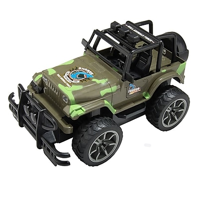 Remote Control Extreme Terrain Utility Vehicle Green Army Suv Jeep (TOYCAR001)