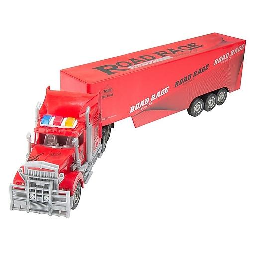 Red Remote Control Big Rig Transport Truck (TOYCAR133)