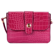 Pink Crocodile Pattern Horizontal Crossbdoy Cellphone Bag (CELLEA763)