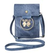 Blue Retro Twill Vertical Crossbody Bag (CELLEA078)