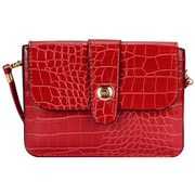 Red Crocodile Pattern Horizontal Crossbdoy Cellphone Bag (CELLEA762)