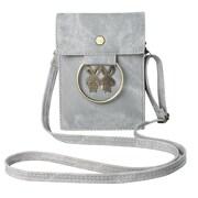 Gray Retro Twill Vertical Crossbody Bag (CELLEA079)
