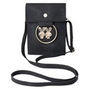 Black Retro Twill Vertical Crossbody Bag (CELLEA075)