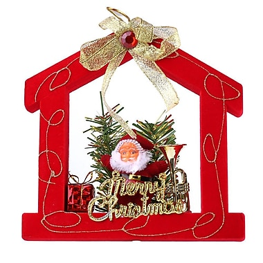 Red Santa Clause House Christmas Ornament Merry Christmas (ORNSAC201)